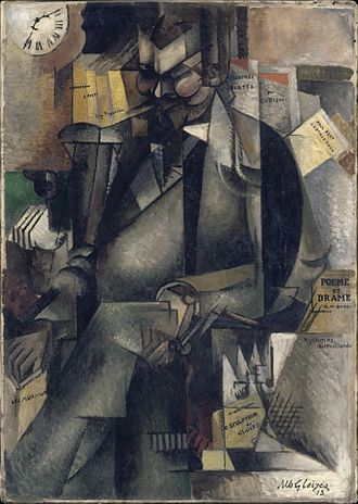 Museum of Fine Arts of Lyon - Albert Gleizes, 1913, Portrait de l'éditeur Eugène Figuière (The Publisher Eugene Figuiere), oil on canvas, 143.5 x 101.5 cm