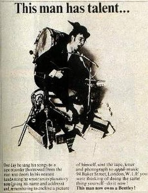 "Alistair Taylor - Taylor in the ""one-man band"" advertisement"