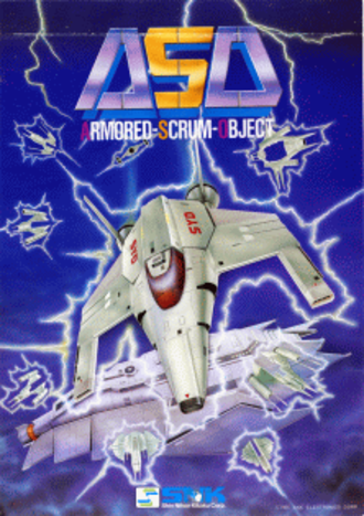 Alpha Mission - Arcade flyer