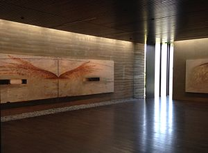 Nathan Oliveira - An interior view of the Windhover Center