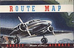Reg Ansett Route Map (Bob Wills Collection).