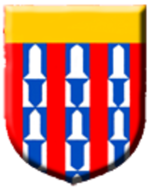 John I, Count of Blois - Coat of arms of Châtillon-sur-Marne (Gules, three pallets vair, a chief or)