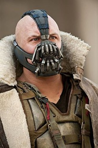 The Dark Knight Rises - A digitally mapped model of Tom Hardy's face and skull was used to design and construct Bane's mask.