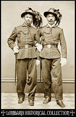 Brothers in Arms: Tin Type of two Bersagliere during the Risorgimento, ca. 1863