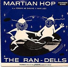 Cover sleeve of the 1963 single Martian-Hop by the group The Ran-Dells.jpg