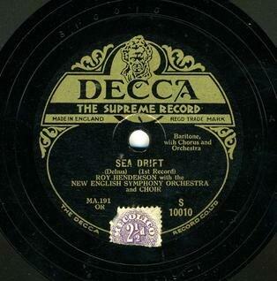 Decca 1929 Sea Drift