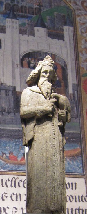 Bristol High Cross - A statue of King Edward III from the High Cross exhibited at the British Library.