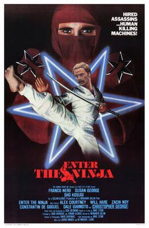 Enter the Ninja - Film poster designed by Design Projects, Inc.