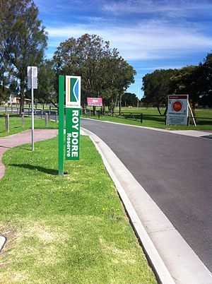 Carrum, Victoria - Entrance to Roy Dore Reserve, Carrum