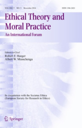 Ethical Theory and Moral Practice - Image: Ethical Theory and Moral Practice