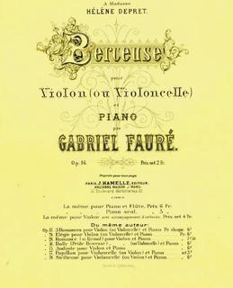 <i>Berceuse</i> (Fauré) 1879 musical composition