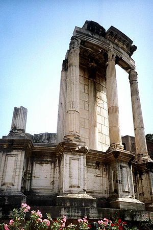 Glossary of ancient Roman religion - Ruins of the ''aedes'' of Vesta