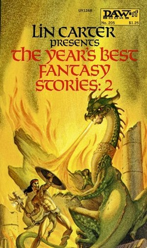 George Barr (artist) - The Year's Best Fantasy Stories: 2 edited by Lin Carter, DAW Books, 1976, cover art by George Barr.