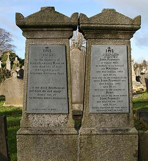 James Clarence Mangan - Grave of James Clarence Mangan, Glasnevin, Dublin.