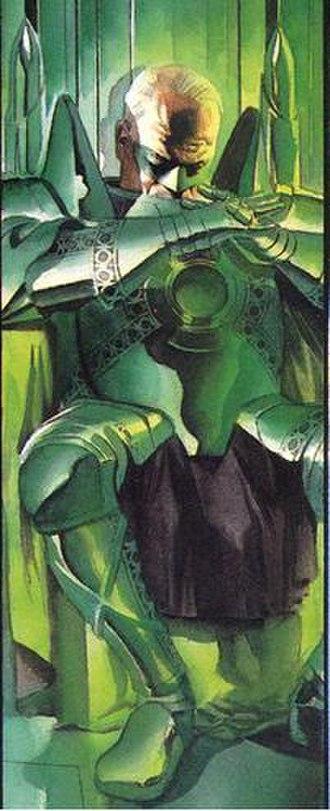 Alan Scott - Green Lantern (Alan Scott), protector of the city of New Oa in Kingdom Come.