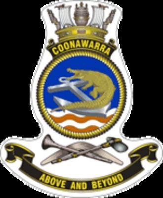 HMAS Coonawarra - Ship's badge of HMAS Coonawarra