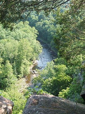 A view of the lower Tohickon Valley from atop ...
