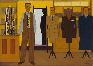 <i>Mens Wear</i> painting by John Brack