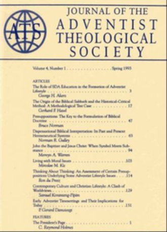 Journal of the Adventist Theological Society - Image: Journal of the Adventist Theological Society