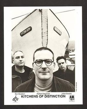 Kitchens of Distinction - L to R, Dan Goodwin, Patrick Fitzgerald, Julian Swales (1992)