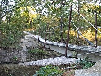 Konza Prairie Biological Station - Image: Konza trail fall bridge 2
