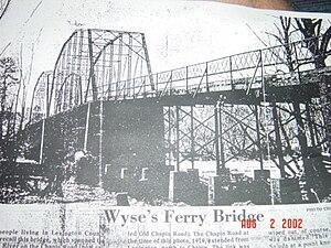 Lake Murray (South Carolina) - Wyse's Ferry Bridge in 1919