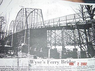 Lake Murray (South Carolina) - Wyse's Ferry Bridge in 1919