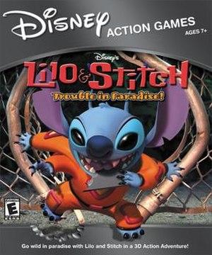 Lilo & Stitch: Trouble in Paradise - North American cover art for the Windows version