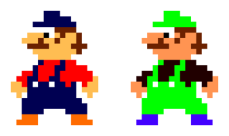 Luigi - Image: Mario Luigi Mario Bros Sprites