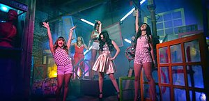 Me & My Girls - Critics noted the colorful visuals in the video which some thought correlated with the track's uptempo production.