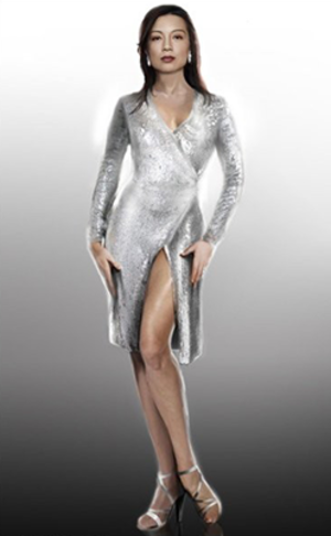 Face My Enemy - Concept art of the dress worn by Ming-Na Wen in the episode.
