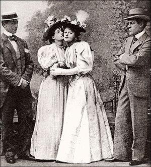 Evelyn Millard - Allan Aynesworth, Evelyn Millard, Irene Vanbrugh and George Alexander in the 1895 London premiere of The Importance of Being Earnest