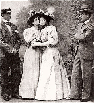Irene Vanbrugh - Allan Aynesworth, Evelyn Millard, Vanbrugh and George Alexander in the 1895 London premiere of The Importance of Being Earnest