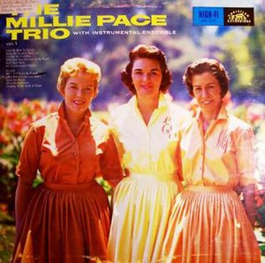 Mary Ford - Mary Ford came from a musical family, and after leaving Les Paul, she sometimes performed with her sisters, Carol, Eva and Esther. Seen here (l to r) are Carol and Eva Summers with Millie Pace. The guitarist who recorded with the Millie Pace Trio was Bob Summers, Mary Ford's brother.