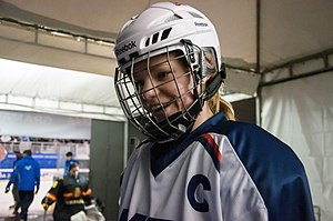 Michigan Wolverines women's ice hockey - Monica Korzon was picked for Team USA at World University Games twice, captaining the 2015 squad