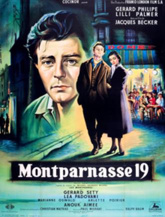 Montparnasse 19 - Theatrical poster