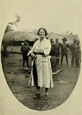 A photo of Margery Barns in 1921.