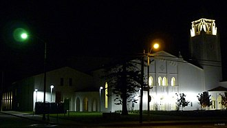 Newport Harbor High School - Night photograph of the new NHHS Robins-Loats Building