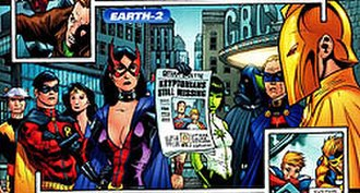Earth-Two - New Earth-2 from 52 Week 52, art breakdowns by Keith Giffen.