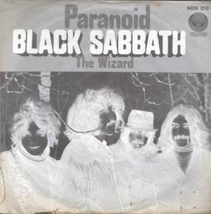 Paranoid (Black Sabbath song) - Image: Paranoid The Wizard 1970 7
