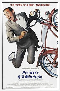 <i>Pee-wees Big Adventure</i> 1985 movie starring Paul Reubens directed by Tim Burton