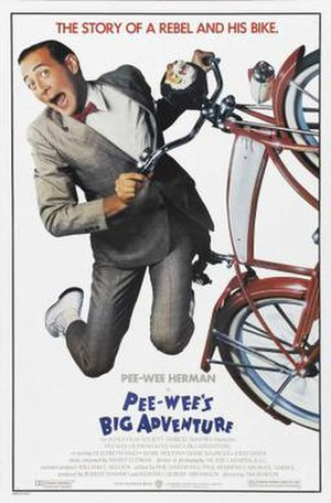 Pee-wee's Big Adventure - Theatrical release poster by John Alvin.