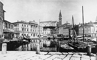 Piran - Piran before the inner marina was buried and remade into a town square