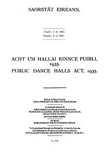 Public Dance Halls Act 1935 (Ireland) cover.jpg