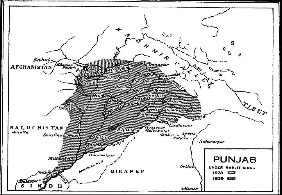 Punjab under Ranjit Singh1823-1839