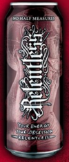 A can of Relentless (standard size)