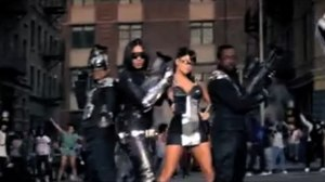 """Rock That Body - From left to right apl.de.ap, Taboo, Fergie and will.i.am holding stereo-guns in the second half of """"Imma Be Rocking That Body""""."""