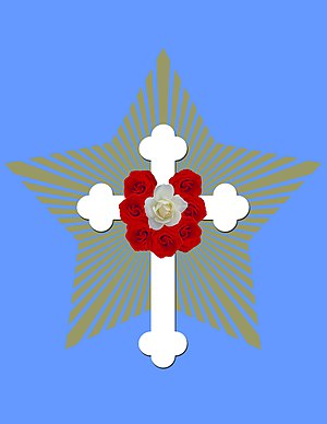 Rose Cross - Image: Rosicrucian fellowship emblem 2