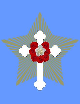 Rose Cross - Image: Rosicrucian fellowship emblem 2