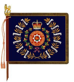 The South Saskatchewan Regiment - The regimental colour of the South Saskatchewan Regiment.